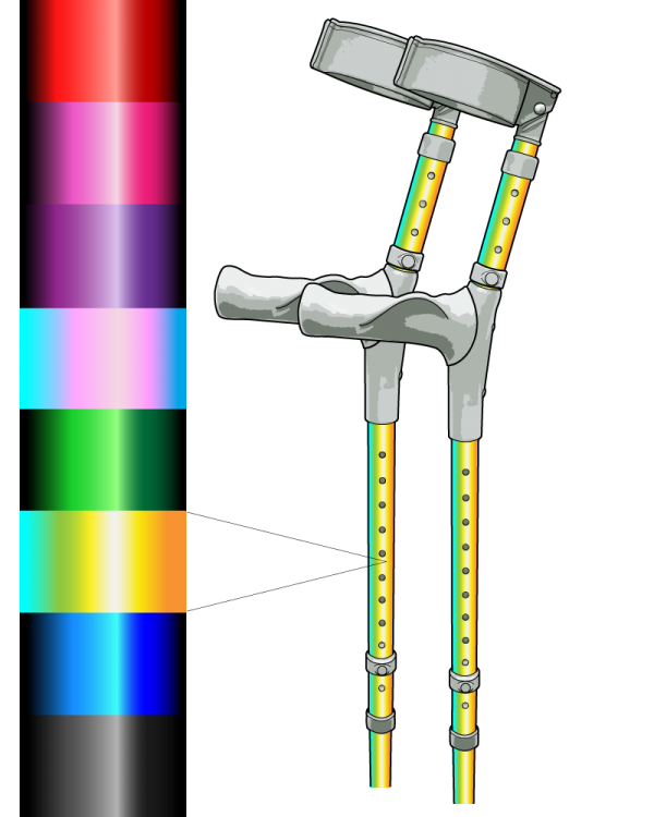 Custom Chrome Effect Crutch
