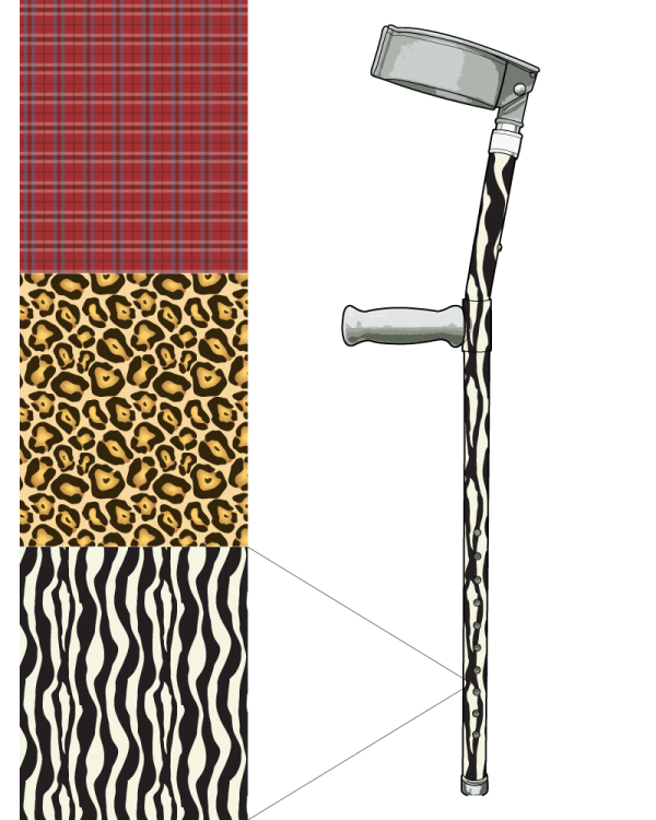 Custom Patterned Crutch (Single)