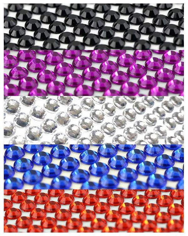 Coloured Diamanté Sheet