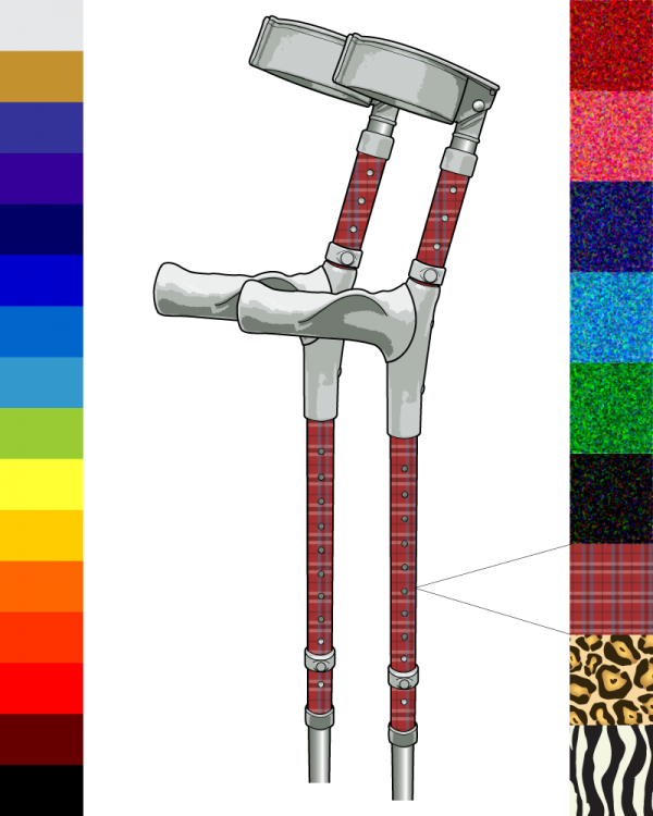Pimp Mobility Custom Ergonomic Crutches (Pair)